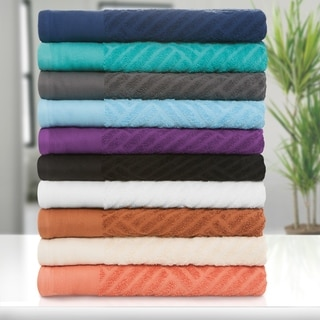 Superior 100-percent Egyptian Cotton Basket Weave 6-piece Towel Set