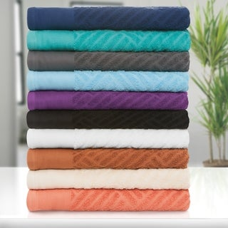 Superior 100-percent Egyptian Cotton Basket Weave 6-piece Towel Set