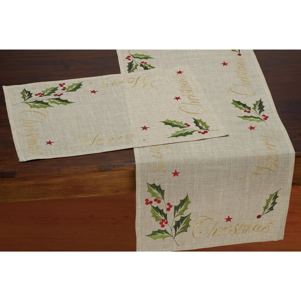Shop Merry Christmas Embroidered Table Runner Free