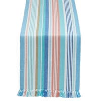 Seashore Stripe Fringed Table Runner