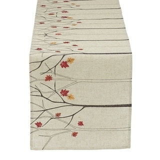 Falling Leaves Embroidered Table Runner