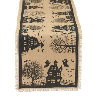 Haunted House Printed Table Runner