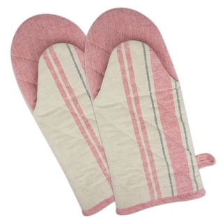 French Stripe Oven Mitt Set