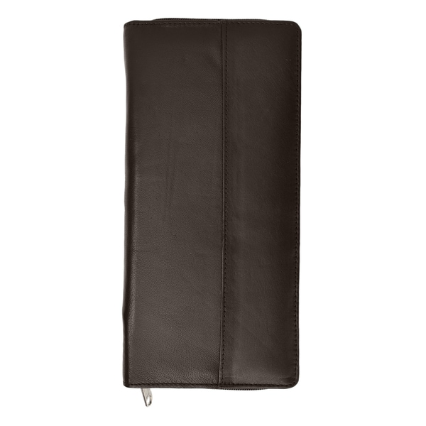 RFID Blocking Zip Around Leather Travel Wallet with Passport and Boarding pass Holder by Marshal Black