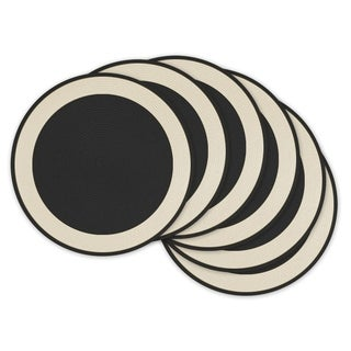 Black Woven Border Placemat ( Set of 6)