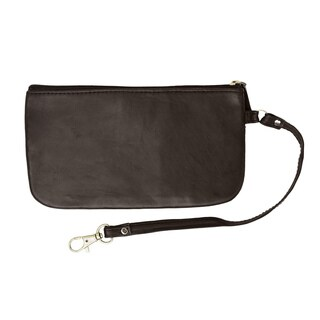 Marshal RFID Safe Soft-Sided Premium Leather Zippered Wristlet Wallet