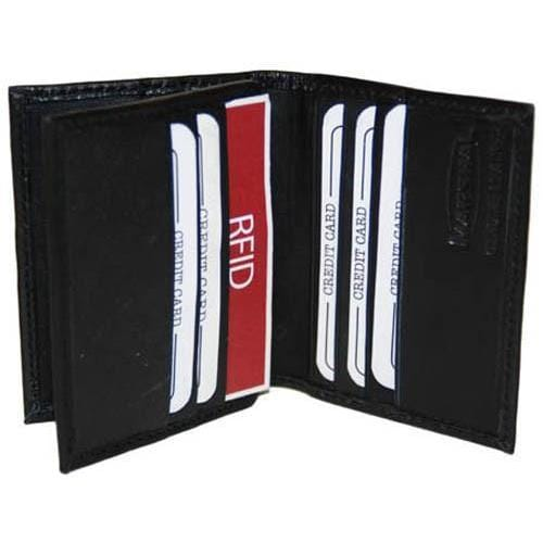 Marshal RFID Security Block Safe Leather Credit Card ID Business Card Center Flap Wallet