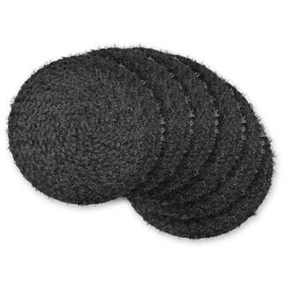 Black Tinsel Placemat ( Set of 6)