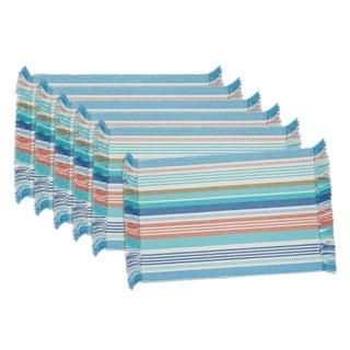 Seashore Stripe Fringed Placemat ( Set of 6)