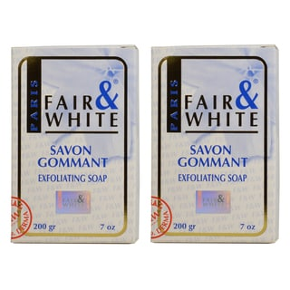 Fair & White Savon Gommant 7-ounce Exfoliating Soap (Pack of 2)