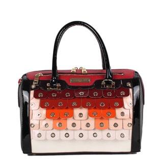 Nicole Lee Laquinta Ombre Scale Multi-Colored Boston Satchel Handbag