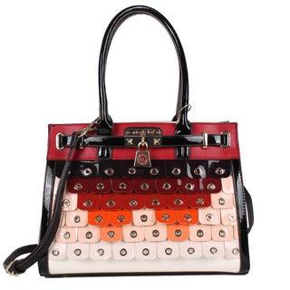 Nicole Lee Laquinta Ombre Scale Multi-Colored Satchel Handbag