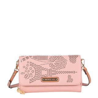 Nicole Lee Latona Paris Laser-cut Pink Clutch