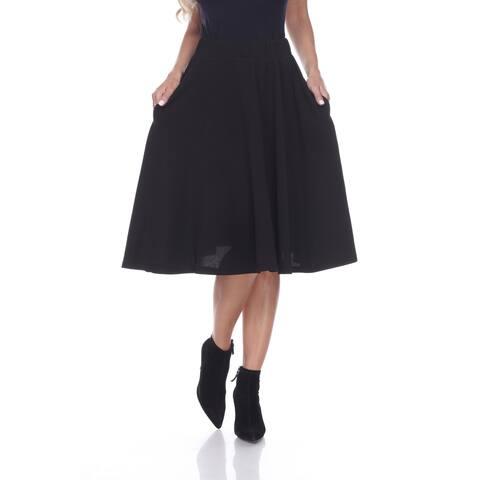 White Mark 'Saya' Knee Length Flare Skirt