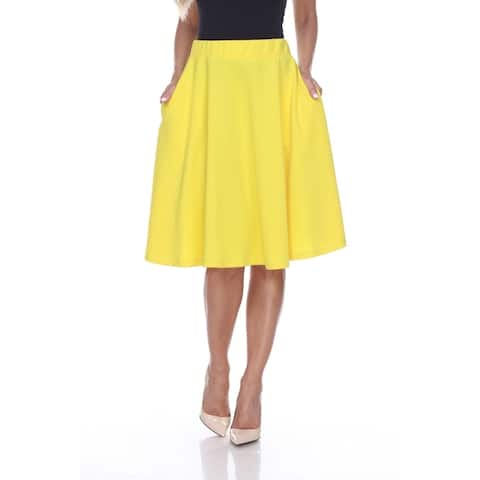White Mark 'Saya' Knee Length Flare Skirt