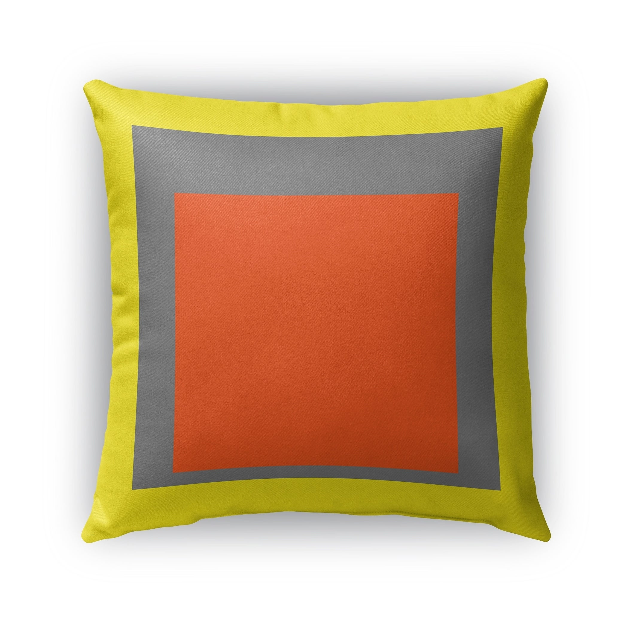Kavka Designs yellow; grey; orange color theory blocks outdoor pillow with insert (26 x 26)