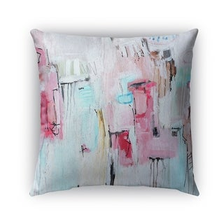 Kavka Designs blue; pink big city girl outdoor pillow with insert