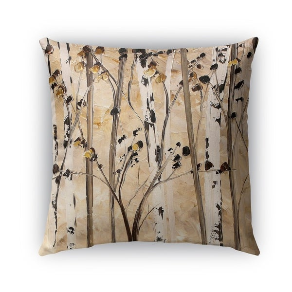 Kavka Designs taupe; ivory; brown beyond the trees outdoor pillow with insert. Opens flyout.