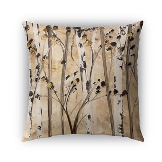 Kavka Designs taupe; ivory; brown beyond the trees outdoor pillow with insert