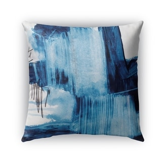 Kavka Designs blue; ivory blue abstract set three outdoor pillow with insert
