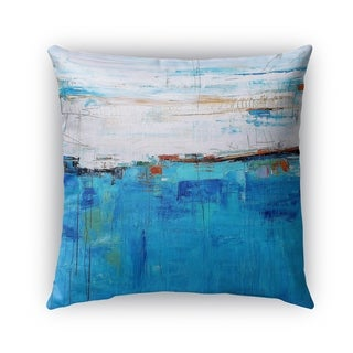 Kavka Designs blue; ivory deep blue sea outdoor pillow with insert
