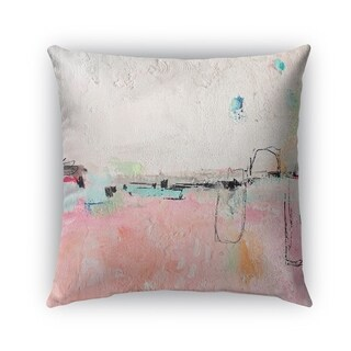 Kavka Designs pink; blue; ivory concrete pink outdoor pillow with insert