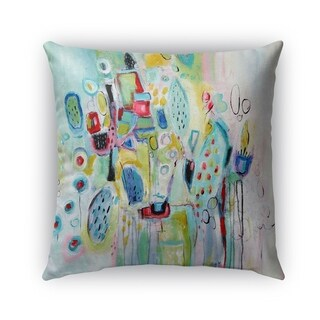 Kavka Designs blue; green; red; pink party planner outdoor pillow with insert