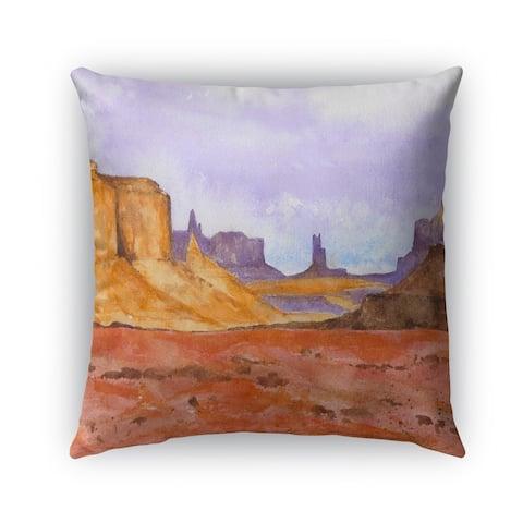 Kavka Designs orange; brown; blue; purple dessert outdoor pillow with insert