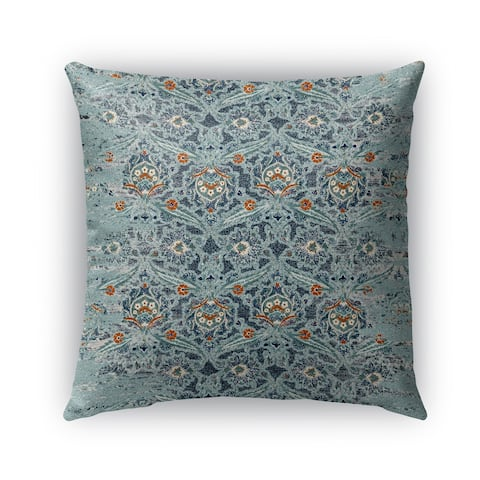 Kavka Designs blue; orange blue charlotte outdoor pillow with insert