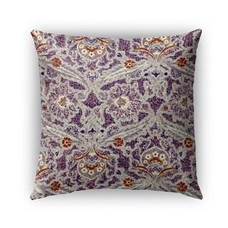 Kavka Designs purple; grey; orange purple charlotte outdoor pillow with insert