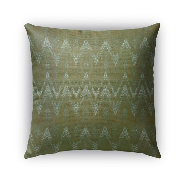 Kavka Designs green chevron outdoor pillow with insert