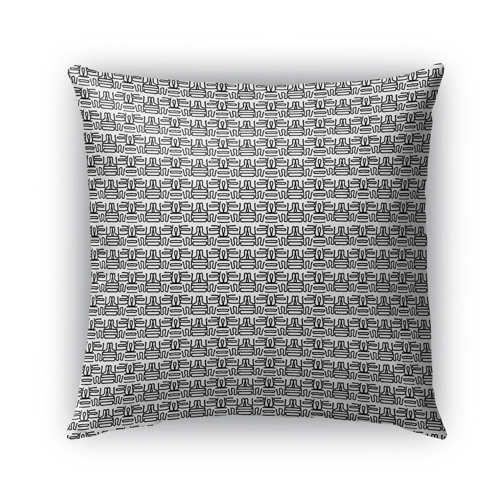 Kavka Designs black; white lyon outdoor pillow with insert (16 x 16)