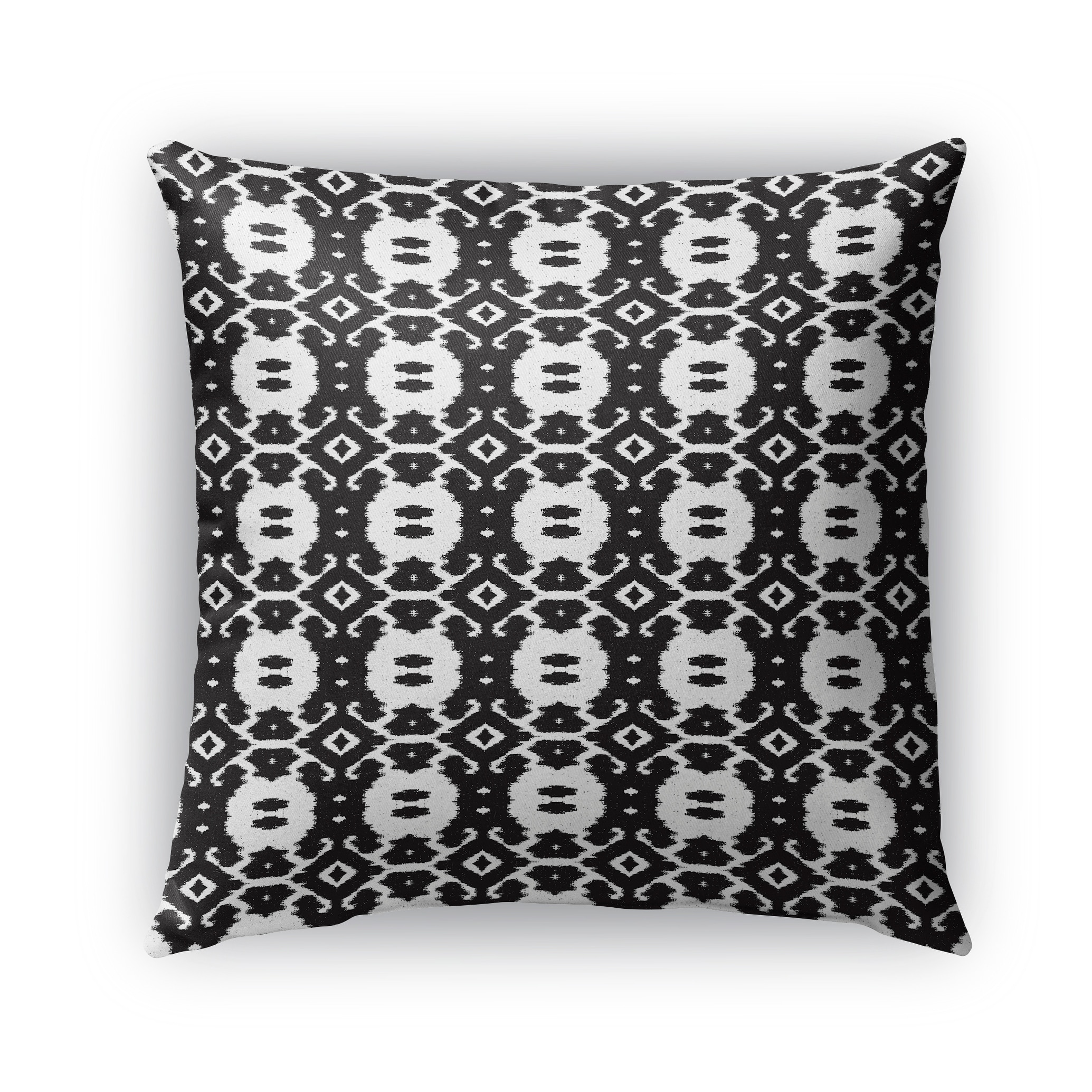Kavka Designs black; white kyoto outdoor pillow with insert (26 x 26)