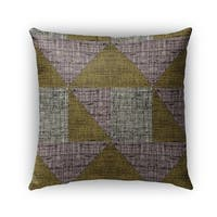 Kavka Designs grey; brown textured triangles outdoor pillow with insert