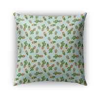 Kavka Designs green/blue cactus outdoor pillow with insert