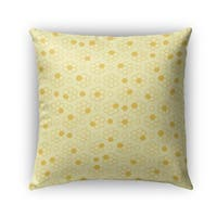 Kavka Designs yellow bees outdoor pillow with insert