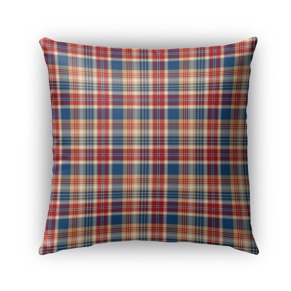 Shop Kavka Designs Red Blue Orange Fall Plaid Outdoor
