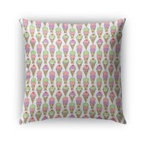 Kavka Designs pink; purple; tan; green ice cream outdoor pillow with insert