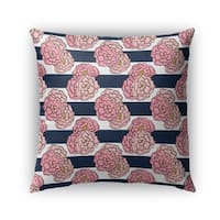 Kavka Designs pink; blue floral outdoor pillow with insert