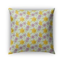 Kavka Designs green; yellow; purple floral outdoor pillow with insert