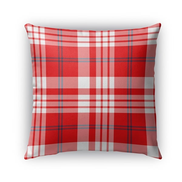 ed838e55a77 Shop Kavka Designs red  white  blue plaid navy red outdoor pillow with  insert - Free Shipping On Orders Over  45 - Overstock - 16963432