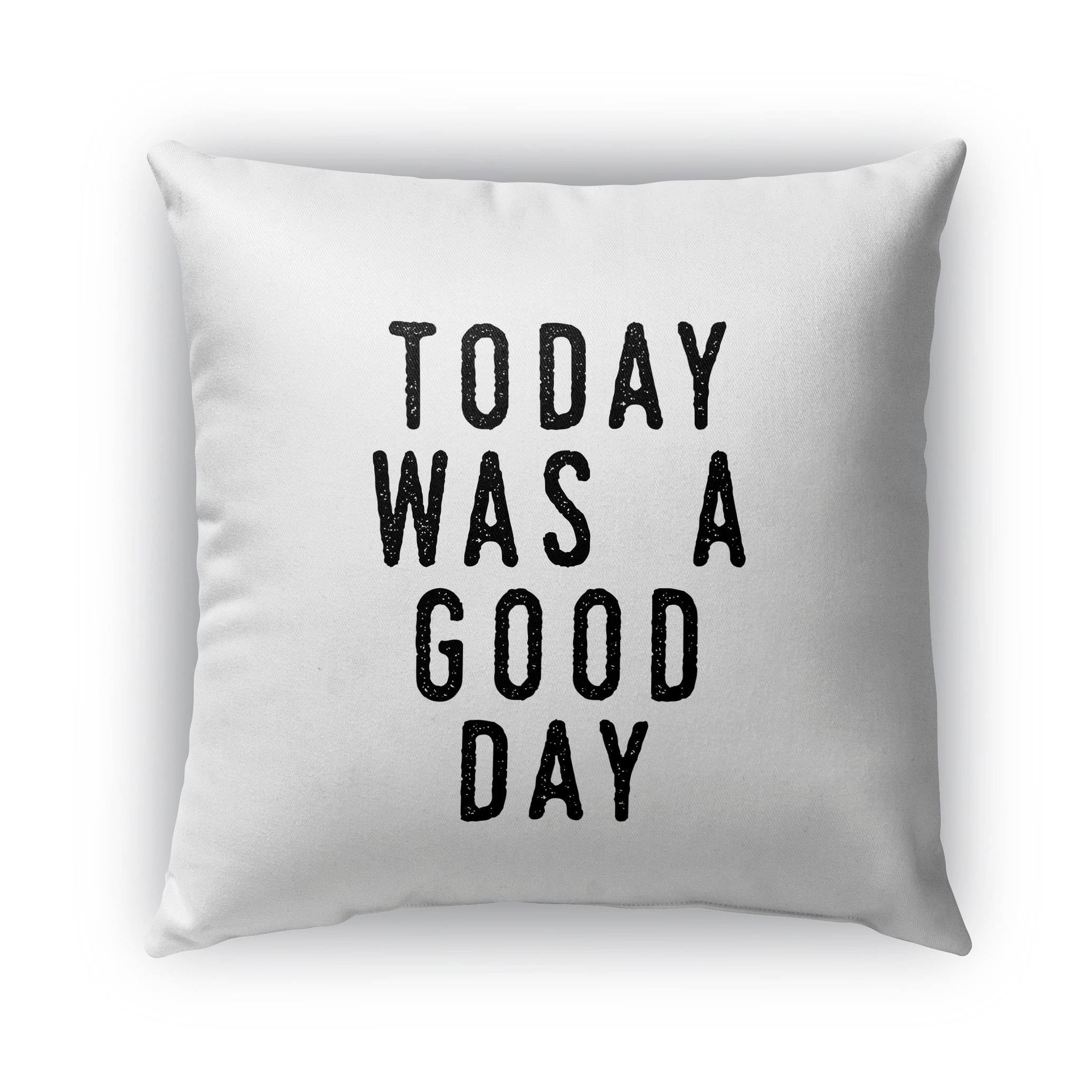 Kavka Designs black; white was a good day outdoor pillow with insert (16 x 16)