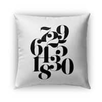 Kavka Designs black; white numbers outdoor pillow with insert
