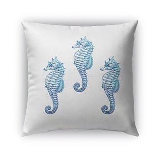 Kavka Designs blue seahorse 3 outdoor pillow By Kavka Designs