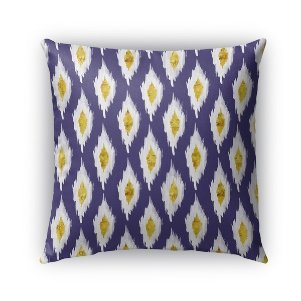 Shop Kavka Designs Blue White Yellow Abstract Abyss Outdoor Pillow