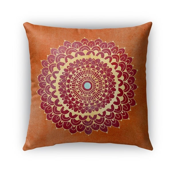 Shop Kavka Designs Orange Red Yellow Blue Boomboom Outdoor Pillow