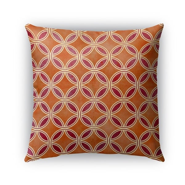 Kavka Designs orange; red geocircles outdoor pillow By Kavka Designs
