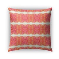 Kavka Designs pink; orange sidra outdoor pillow with insert