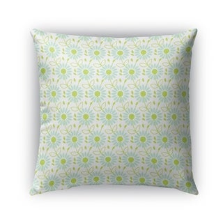 Kavka Designs green; blue lizzy outdoor pillow with insert