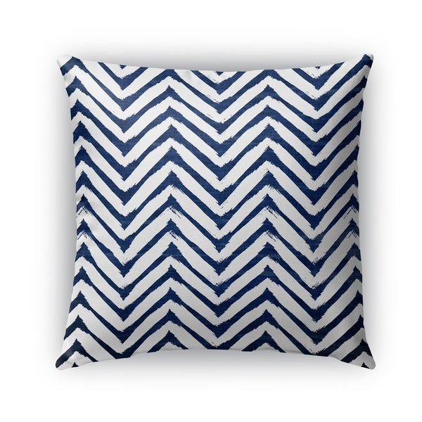 Kavka Designs blue; white cambay blue outdoor pillow with insert